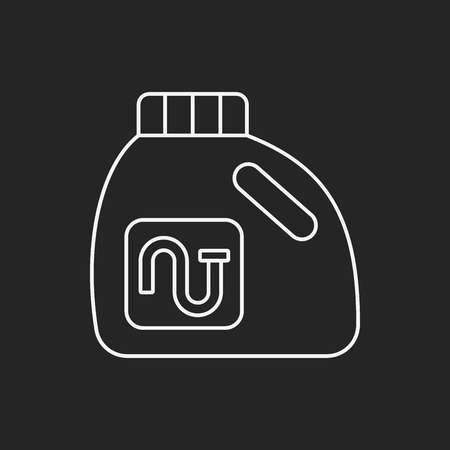 laundry line: Laundry detergent line icon Illustration