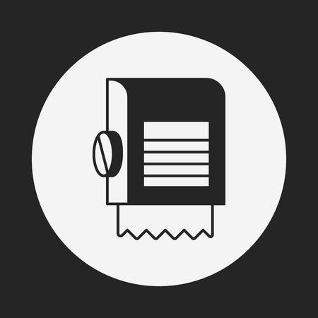 toilet roll: tissue icon Illustration