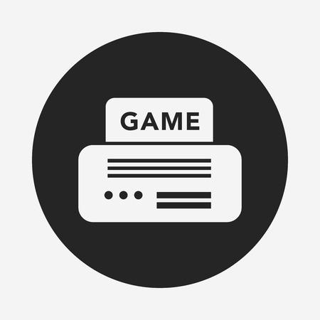 handheld device: video game icon Illustration