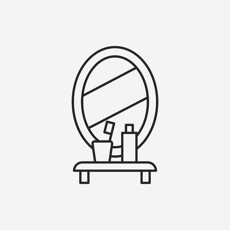 mirror: mirror washbasin line icon