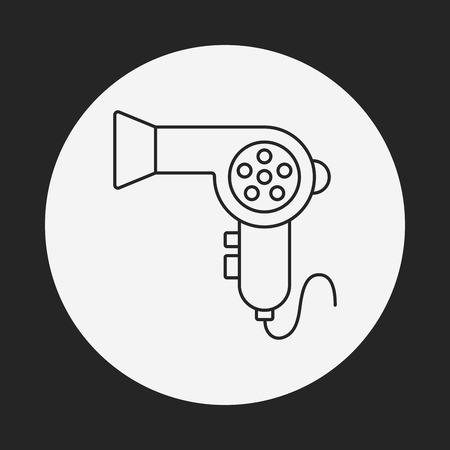 Hair dryer line icon