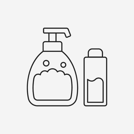 shampoo line icon