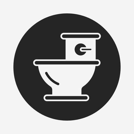 seat: Toilet seat icon Illustration
