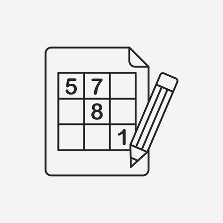 guess: Sudoku line icon