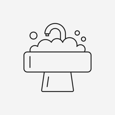to sink: Sink line icon Illustration