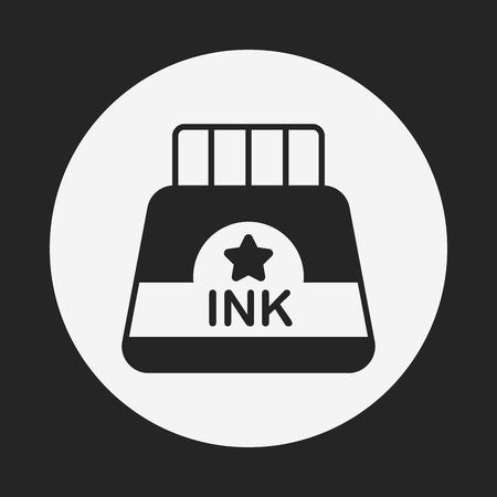 copywriter: ink icon Illustration