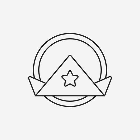 serviette: napkin line icon