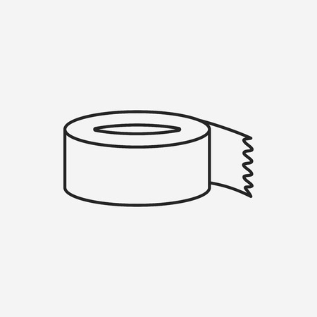 tape line: tape line icon