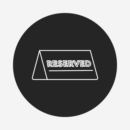reservations: reserved line icon
