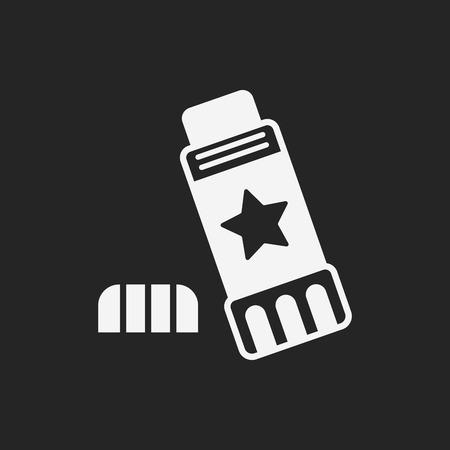 pegamento: icono de pegamento