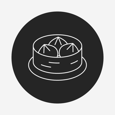 bao: Steamed stuffed bun line icon