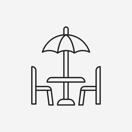 outdoor: outdoor table line icon