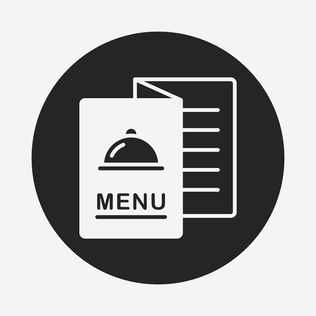 restaurant food: menu icon