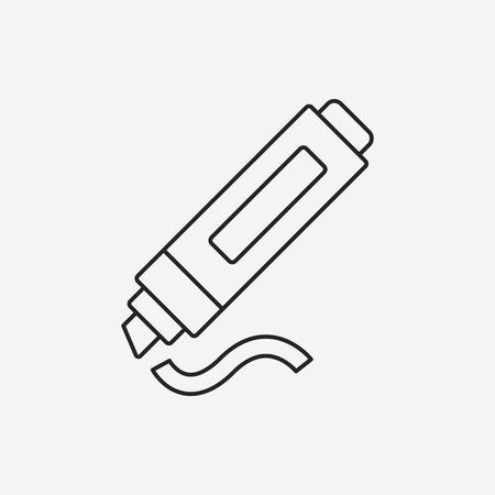 permanent: marker line icon Illustration