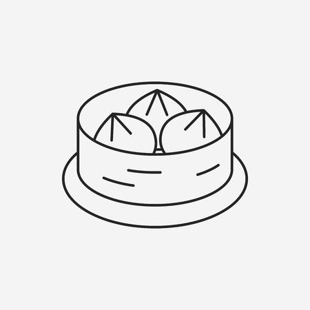 bao: Steamed stuffed bun line icon