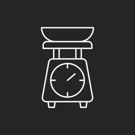weighing machine: Weighing machine line icon Illustration