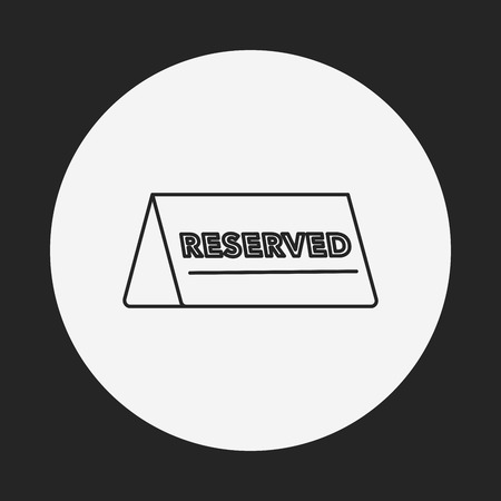 reserved line icon