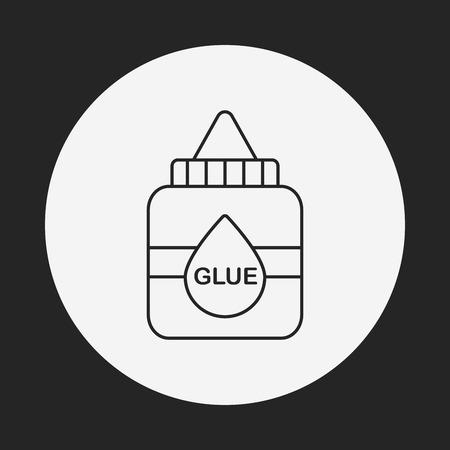 pegamento: icono de l�nea de cola Vectores