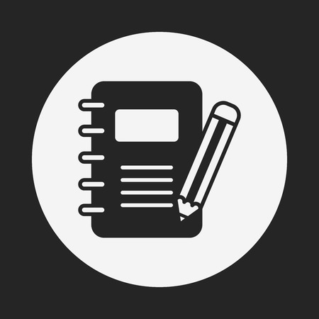 note book: note icon Illustration