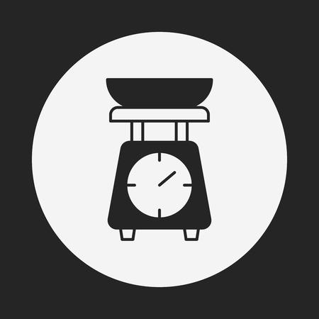 counterbalance: Weighing machine icon