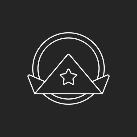 tela blanca: icono de l�nea de la servilleta Vectores
