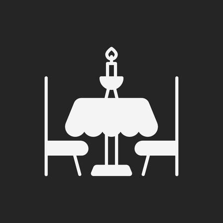 table knife: dinner table icon Illustration