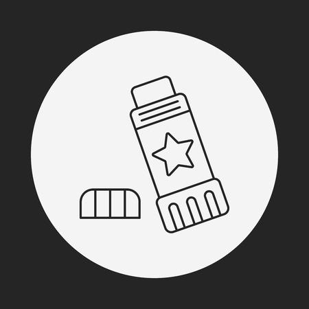 resistol: icono de l�nea de cola Vectores
