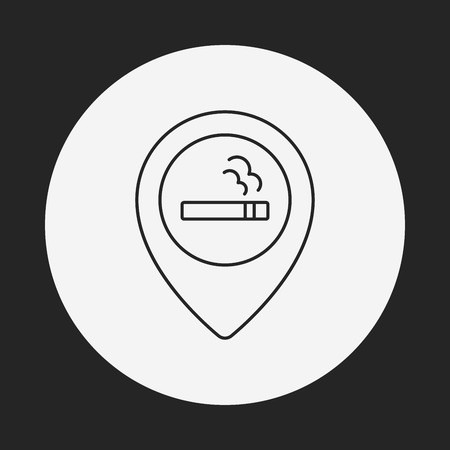 abstain: smoke line icon Illustration
