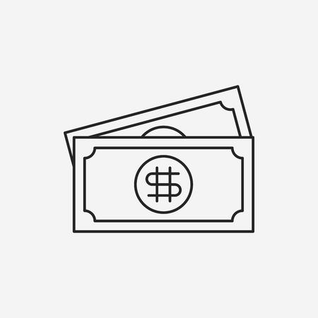 cash money: money cash line icon
