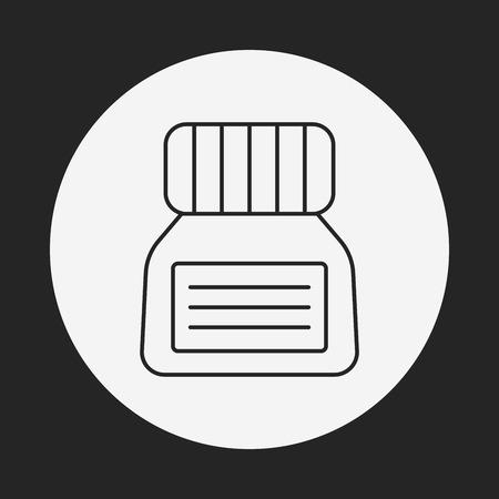 copywriter: ink line icon