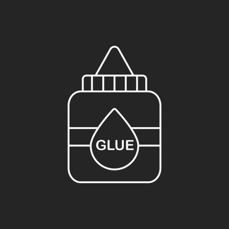 glue: glue line icon