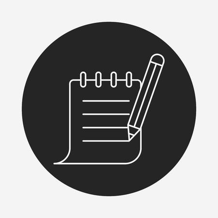 current account: Receipt line icon Illustration