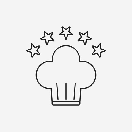 Chef Hat line icon Standard-Bild - 42877106