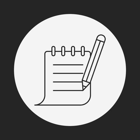 receipt: Receipt line icon Illustration