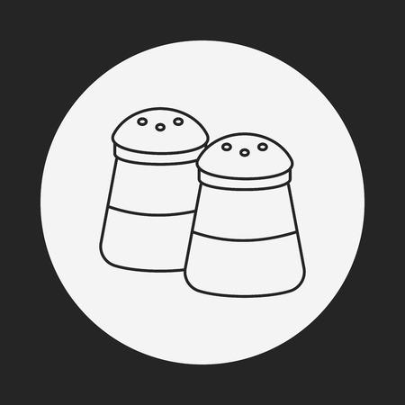 sauce: sauce bottle line icon