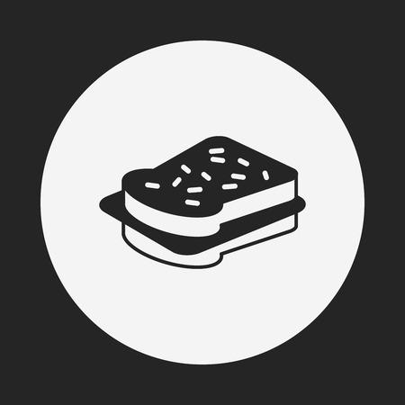 healthy snack: Sandwich icon