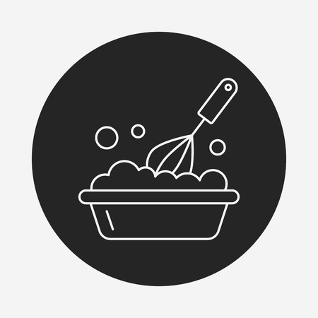 eggbeater: kitchenware beater line icon