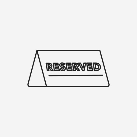 reserved: reserved line icon