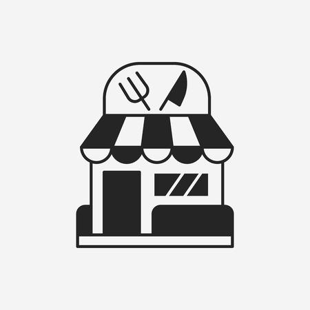 restaurant icoon Stock Illustratie