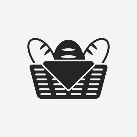 tranches de pain: pain icône Illustration