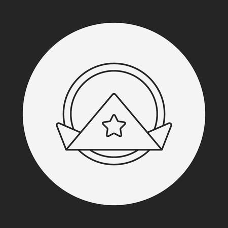 napkin: napkin line icon