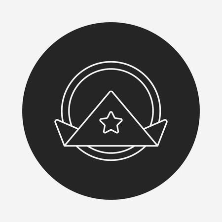 tovagliolo: Icona linea di tovagliolo
