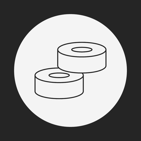 tape line: tape line icon