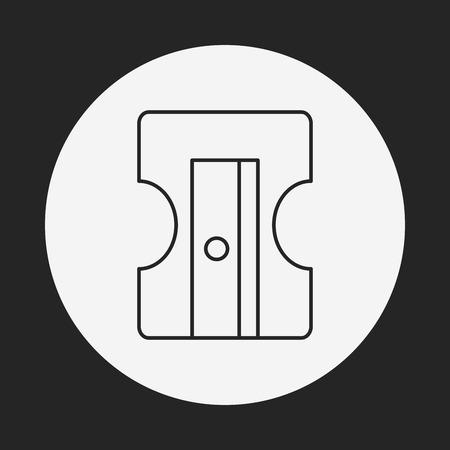 sharpener: Pencil sharpener line icon