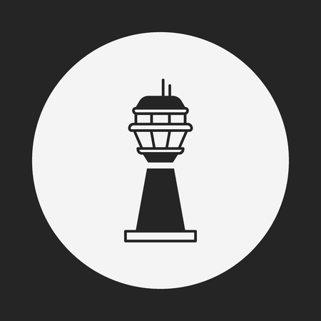 cell tower: Base station icon Illustration