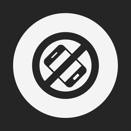 phone ban: no phone icon