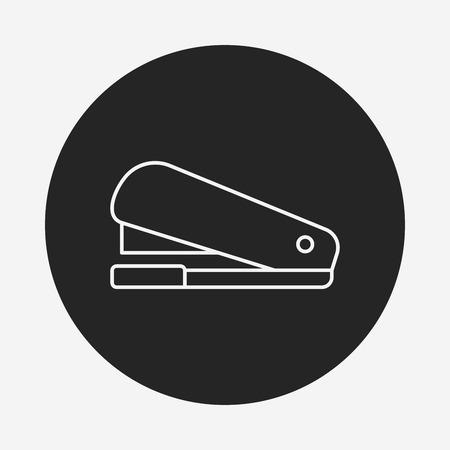 grapadora: Icono de línea de la grapadora