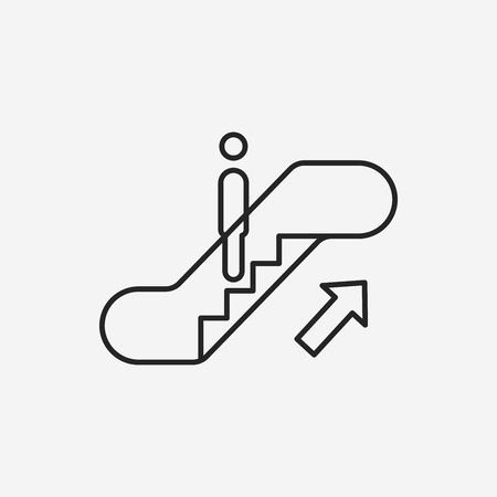 escalator: Escalator line icon Illustration