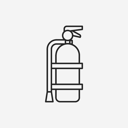 disaster prevention: Fire extinguisher line icon