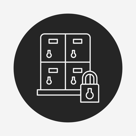locker: locker line icon